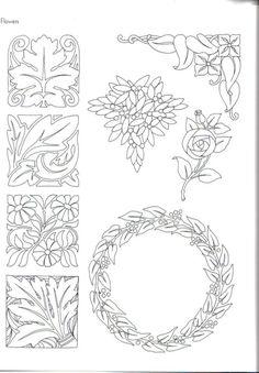 "Photo from album ""Art Nouveau Designs"" on Yandex. Motifs Art Nouveau, Design Art Nouveau, Art Nouveau Pattern, Art Deco, Tattoo Painting, Stencils, Jugendstil Design, Paper Quilling Patterns, Design Floral"