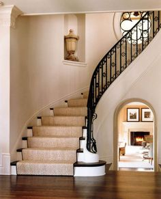 You would be shocked at the number of low-cost yet quality items you can acquire to remodel your bathroom. Staircase Interior Design, Architecture Design, Banister Remodel, Staircase Storage, Traditional Staircase, Diy Kitchen Remodel, Grill Design, Home Remodeling, New Homes