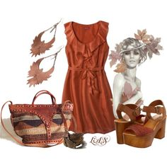 Leaves, created by snippins on Polyvore