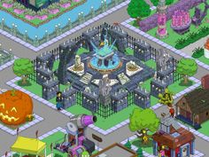 Springfield Heights, Springfield Tapped Out, The Simpsons Game, Design Inspiration, Design Ideas, Clash Of Clans, Sims, Layout, Games