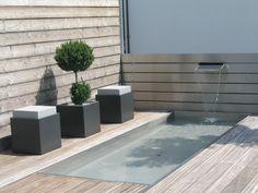 außenansicht mit pool des einfamilienhauses in unna, architektur, Moderne