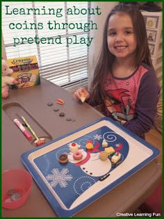 Learning about coins through pretend play - by Creative Learning Fun