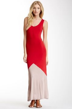 Colorblock Maxi Tank Dress by Velvet Torch on @HauteLook