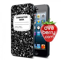 Composition Book iPhone and Samsung Galaxy Phone Case