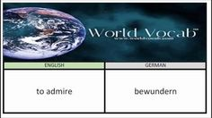 to admire - bewundern German Vocabulary Builder Word Of The Day #19 ! Full audio practice at World Vocab™! https://video.buffer.com/v/56c0be22671d27367ce5f318
