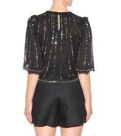 mytheresa.com - Fordon silk sequinned blouse - Luxury Fashion for Women / Designer clothing, shoes, bags