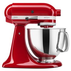 Spice up your kitchen with this festive red KitchenAid, perfect for baking goodies this holiday season!