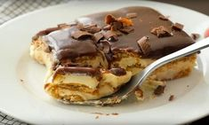 New Food Recipes Cold Desserts, Sweet Desserts, Poke Cakes, Cupcake Cakes, Cooking App, Cooking Recipes, Delish Cakes, Biscuits Graham, Fridge Cake