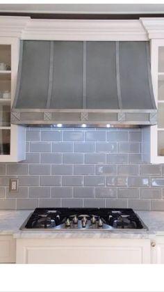 Zinc Hood, Range Hood for La Cornue, Fan Included, Custom Sizes,All Metals avai Kitchen Hoods, Kitchen Stove, Kitchen Cabinets, Hood Fan, La Cornue, Range Hoods, Home Kitchens, Metals, Interior Design