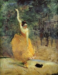 Henri de Toulouse-Lautrec, The Spanish Dancer, 1888, private collection, oil on canvas