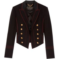 Burberry Prorsum Double-breasted wool-blend twill blazer (€2.325) ❤ liked on Polyvore featuring outerwear, jackets, blazers, black, double breasted blazer, burberry, wool blend blazer, twill jacket and wool-blend jacket
