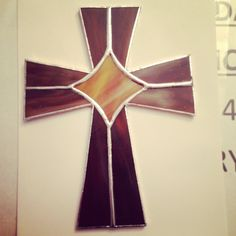 First stained glass cross I made. Great as a wedding gift or any time present.