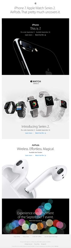 Beautiful email design from Apple