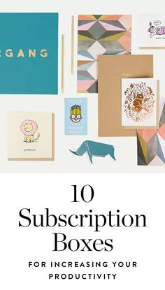These Subscription Boxes Will Help Increase Your Productivity (with Little to No Effort) via @PureWow