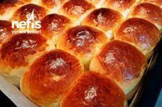 Yumuş Yumuş Poğaça Tarifi Cheese Ball, Hot Dog Buns, Donuts, Food And Drink, Bread, Cooking, Pizza, Dessert, Rage