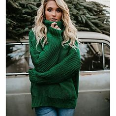 Estilo Fashion, Ideias Fashion, Warm Sweaters, Pullover Sweaters, Oversized Sweaters, Jumpers For Women, Sweaters For Women, Camisa Polo, Long Sleeve Turtleneck
