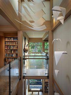 Landing Art, Engawa House, Seattle by Sullivan Conard Architects : Home Inspiration