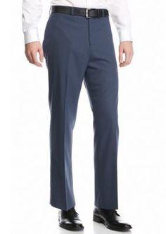 MICHAEL Michael Kors Blue Classic-Fit Flat-Front Dress Pants