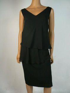 6ea226939fc $165 LAUREN Ralph Lauren Black Popover Vneck Skyla Sheath Dress 18W NEW  R439 #RalphLauren #