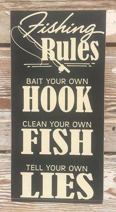 Country Printed Quality Wooden Sign And Hanger Fishing Jerk On The Line Plaqu...