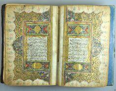 Antique Ottoman Turkish Arabic Islamic Manuscript Quran Illuminated Koran 1811 | eBay