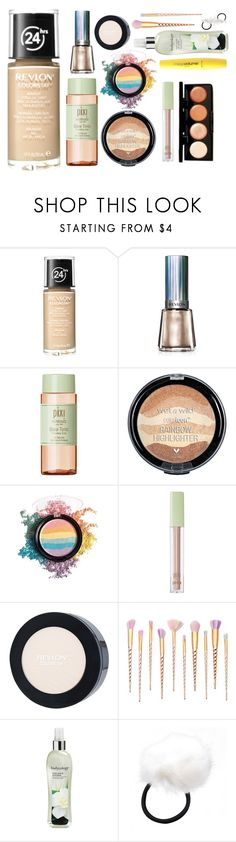 """easy glow starter pack"" by purplicious ❤ liked on Polyvore featuring Revlon, Pixi, Bodycology and Wet n Wild"