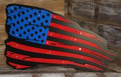 3 Dimensional American Weathered Flag