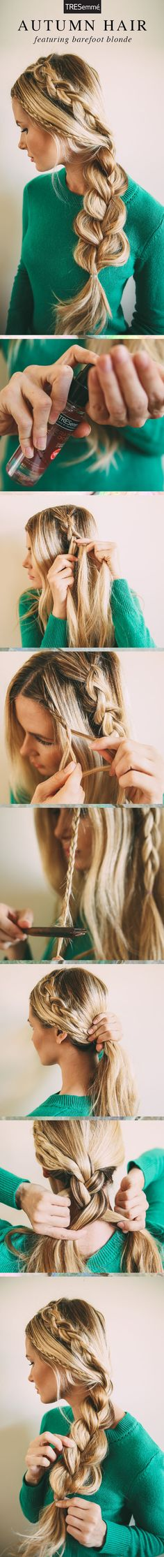 Connoisseur of braids, @amberlfillerup shows us a triple-braid autumn look (because two braids just aren't enough).