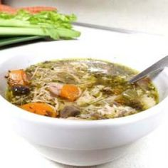 Delicious chicken soup inspired by song of the same name.