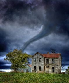 Tornado, The Ozarks, Missouri photo via Lesley. I know they're destructive, dangerous and scary... there's still a terrible beauty to them.