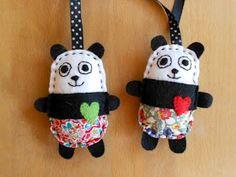 Free Pattern Felt Panda Auf mybearpaw.com  http://www.pinterest.com/lynnm346/bears-care-bears-in-crochet-felt-sewing-teddy-bear/