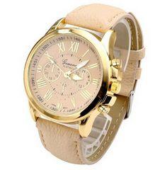 ~ Women's Fashion Numerals Faux Leather Analog Quartz Wrist Watch ~