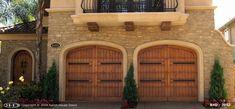 Ranch House Doors Wood Garage Doors, House Doors, Ranch, Mansions, House Styles, Outdoor Decor, Beautiful, Home Decor, Wooden Garage Doors