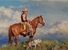 """On Top"" by Jason Rich (Cowboy Artist)"
