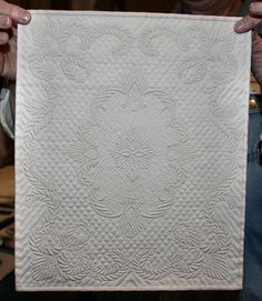 miniature whole cloth blog hand quilted. Gorgeous!