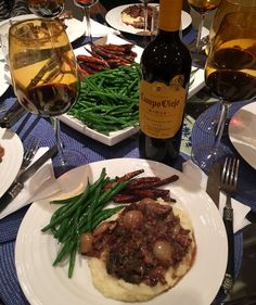 Rabbit in a Red Wine Sauce on Mashed Potatoes
