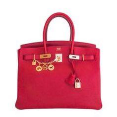 Hermes Rouge Casaque Lipstick Red 35cm Birkin Gold GHW Gorgeous Hermes  Handbags a4214e9f36029