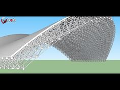 Teach how to model a space frame using SketchUp - Dựng giàn không gian Sketchup - YouTube Architecture Art Design, Cultural Architecture, Concept Architecture, Architecture Drawings, Architecture Details, Autocad, Space Truss, Truss Structure, Space Frame