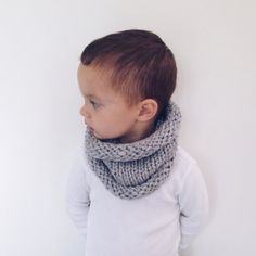 Chunky rolled cowl scarf kids by MaxOliviaKnitwear on Etsy