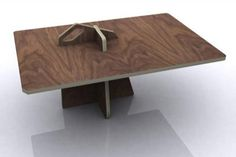 Grade A Plywood Plans: 6 'Puzzle-Piece' Furniture Ideas Folding Furniture, Plywood Furniture, Furniture Plans, Furniture Sets, Furniture Design, Handmade Picture Frames, Plywood Table, Cool Wood Projects, Transforming Furniture