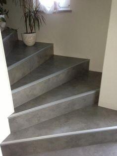 Escalier b ton cir nez de marche inox beton cir taloch pinterest es - Recouvrir un escalier en bois de beton cire ...