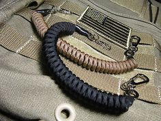 2 Paracord Coiled Lanyards -for- Maxpedition Condor Tactical Tailor Tad Gear LBT