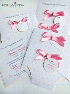 Una hermosa tarjeta para celebrar la llegada de una bendición! #babyshower #tarjetas #invitacion #creativo