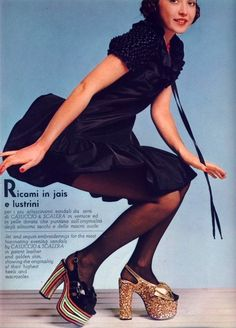 Casuccio e Scalera platform shoes, 1973; these are back today. Styles repeat themselves every few years.