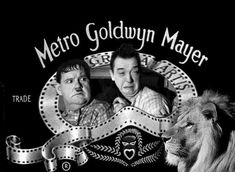 5 26 2018 6 Oliver Haedy and Stan Laurel MGM Banner Logo Leo the Lion Lunch? Laurel And Hardy, Stan Laurel Oliver Hardy, Old Hollywood Style, Golden Age Of Hollywood, Classic Hollywood, Comedy Duos, Comedy Films, Classic Comedies, Classic Movies