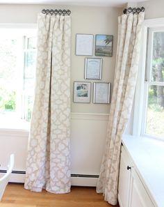 Stenciled Drop Cloth Curtain Tutorial.