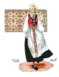 Hardanger Lady with Belt