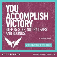 """""""Each day can bring you a little closer to your goals. www.kodiseaton.com 