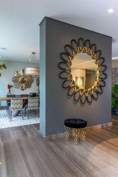 Dining Room Mirror Wall, Living Room Mirrors, Living Room Decor, Home Decor Wall Art, Home Decor Furniture, Diy Room Decor, Metal Wall Decor, Home Interior Design, Interior Decorating