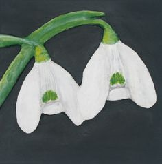 """""""Snowdrops 2″ 3D Acrylic Painting FOR SALE contact info@purplefaye.co.uk to buy or commission your own Canvas Size 8″x8″ (203mmx203mm) Image Depth 30mm"""